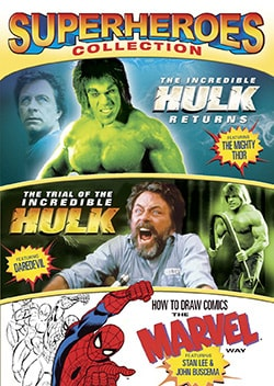Superheroes Collection (The Incredible Hulk Returns / Trial of the Incredible Hulk / How to Draw Comics) (DVD)