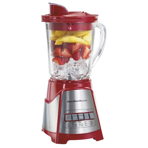 Hamilton Beach Red Ensemble Multi-Function Glass Jar Blender