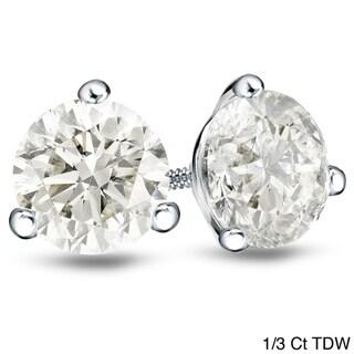 Auriya 18k Gold Martini Style Diamond Earrings (H-I, SI1-SI2)