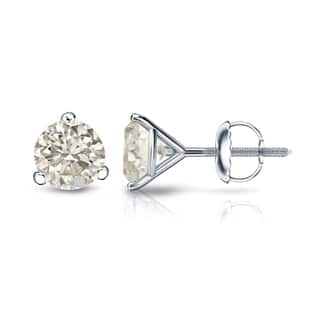 18k Gold 1/4 to 3/4ct TDW Round Diamond Stud Earrings by Auriya