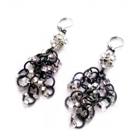Handmade Heavenly Beads Chandalier Chain Maille Earrings (USA)