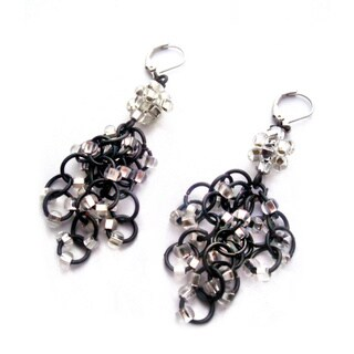 Handmade Heavenly Beads Chandalier Chain Maille Earrings (USA)