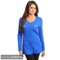 Stanzino Women's Slim Fit Button-front Jacket