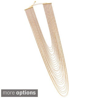 Gold-plated Multi-layered Statement Fashion Necklace