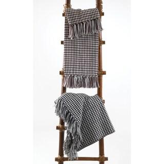 Houndstooth Design Throw Blanket