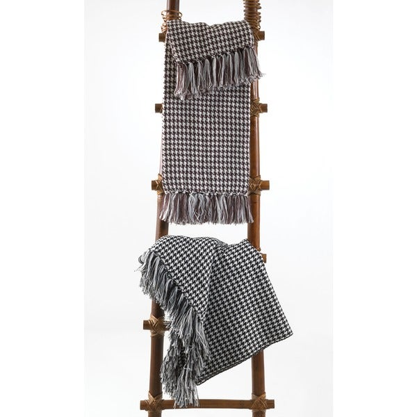 Houndstooth Design Throw Blanket