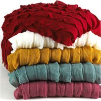 Soft and Cozy Ruffled Design 50 x 60-inch Throw Blanket