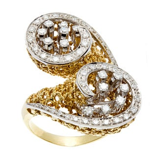 Pre-owned 18k Yellow Gold 1 1/5ct TDW Diamond Antique Estate Ring (J-K, VS1-VS2)