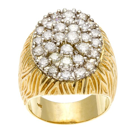 Pre-owned 14k Yellow Gold 4 1/2ct TDW Diamond Jumbo Estate Ring (H-I, SI1-SI2)