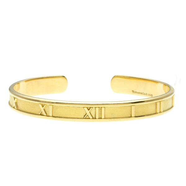764c3c7ded71e Shop Pre-owned Tiffany & Co. 18k Yellow Gold Atlas Estate Cuff ...