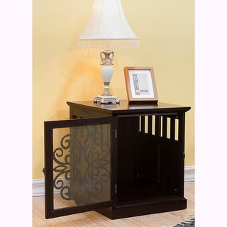 Large Tesy Residence Wooden Furniture Dog Crate by Elegant Home Fashions