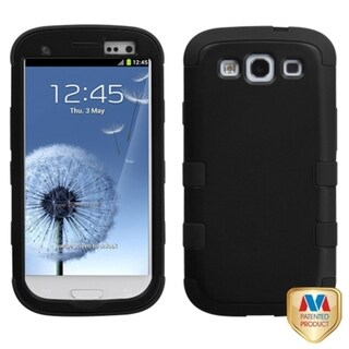 INSTEN Black TUFF Hybrid Phone Protector Phone Case Cover for Samsung Galaxy S III