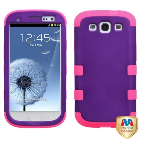 INSTEN Grape/ Electric Pink TUFF Hybrid Phone Case Cover for Samsung Galaxy S III