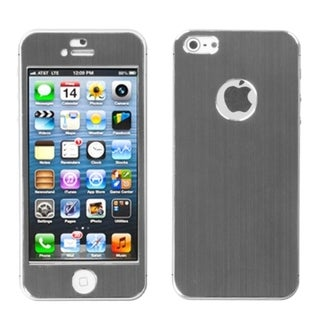 BasAcc Gray/ Brushed Metal Shield Case for  Apple iPhone 5