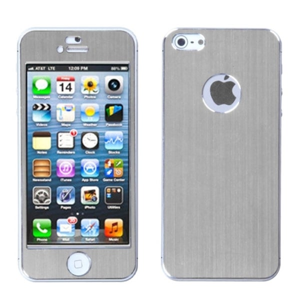 BasAcc Silver/ Brushed Metal Case for  Apple iPhone 5