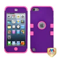 Insten Purple/ Hot Pink Tuff Hard PC/ Silicone Dual Layer Hybrid Rubberized Matte Case Cover For Apple iPod Touch 5th/ 6th Gen