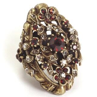 Sweet Romance Victorian Garnet Vintage Ruby Ring