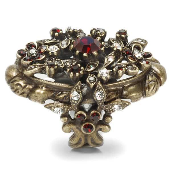 Shop Sweet Romance Victorian Garnet Vintage Ruby Ring - Free