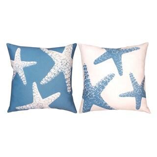Nautical Starfish 19-inch Decorative Pillows (Set of 2)