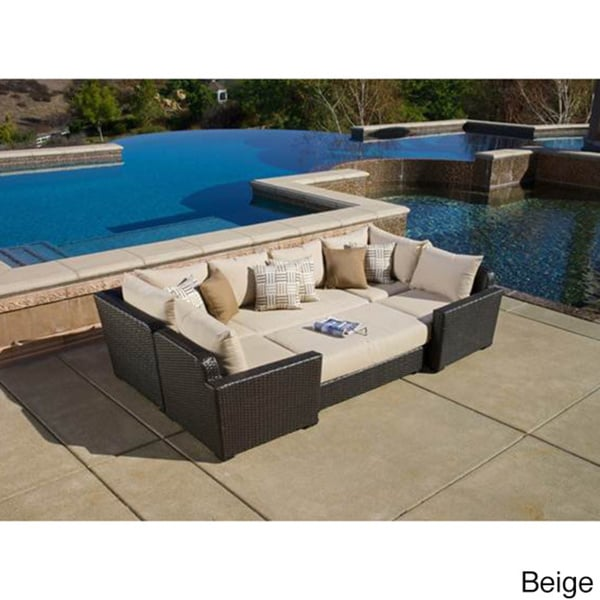 Shop Sandy Beige 6 Piece Sunbrella Deep Seating Modular