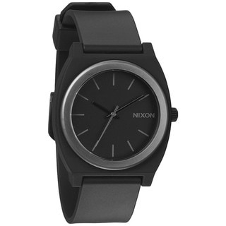 Nixon Men's A1191308-00 Black Polyurethane Quartz Watch with Black Dial