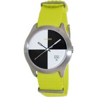 Nixon Men's Quad A3441262-00 Two-Tone Nylon Quartz Watch with White Dial|https://ak1.ostkcdn.com/images/products/8252457/8252457/Nixon-Mens-Quad-A3441262-00-Two-Tone-Nylon-Quartz-Watch-with-White-Dial-P15578365.jpg?impolicy=medium