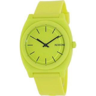 Nixon Men's Time Teller A1191262-00 Yellow Rubber Quartz Watch with Yellow Dial