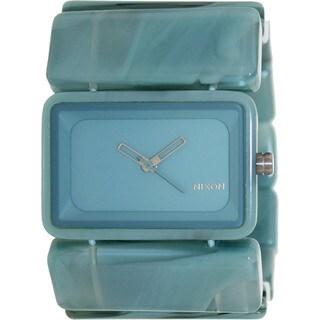 Nixon Women's Vega A726883-00 Blue Plastic Quartz Watch with Blue Dial