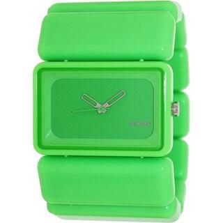 Nixon Women's 'Vega' Green Plastic Quartz Watch