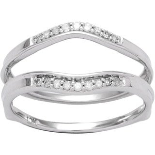 Elora 10k Gold 1/8ct TDW Diamond Enhancer Guard Wedding Band