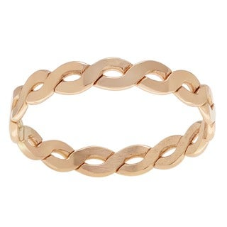 Sterling Silver Goldfill Handmade Twist Chain Ring Band