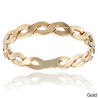 Journee Collection Sterling Silver Handcrafted Twisted Band