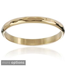 Journee Collection Gold-tone Sterling Silver Handcrafted Hammered Band