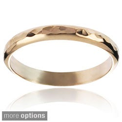 Journee Collection Highly Polished Sterling Silver Handcrafted Hammered Band (More options available)