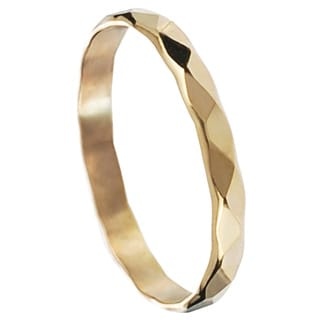 Journee Collection Elegant Sterling Silver Handcrafted Hammered Band