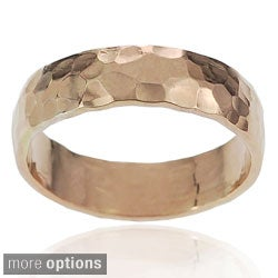 Journee Collection Sterling Silver Handcrafted Hammered Band