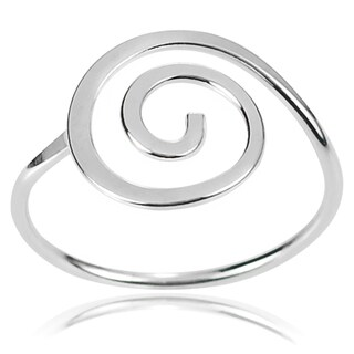 Journee Collection Sterling Silver Handcrafted Swirl Ring