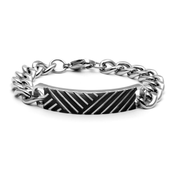 Stainless Steel Tire Tread Bracelet and Necklace Set