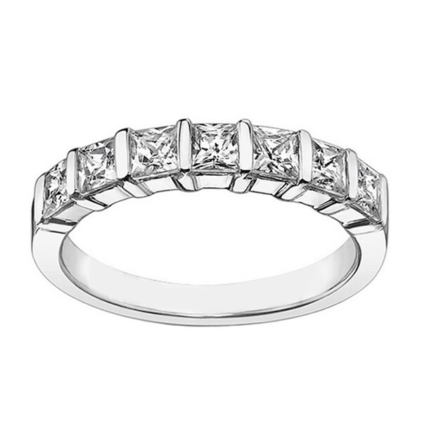 Platinum or White Gold 1 1/4ct TDW Diamond Wedding Band (F-G, SI1-SI2)
