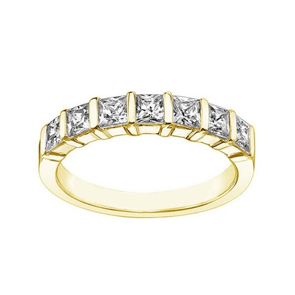 14k or 18k Yellow Gold 1 1/4ct TDW Diamond Wedding Band (F-G, SI1-SI2)