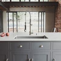 VIGO Mercer Stainless Steel 32-inch Kitchen Sink and Zurich Faucet Set