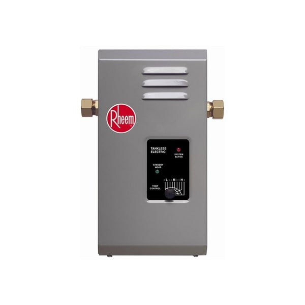 shop rheem 'rte 7' 2.5 gpm electric tankless water heater - free