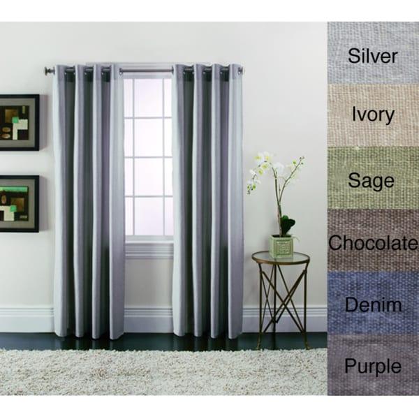 Brielle Patio Grommet Panels 50x84 Purple