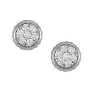 14k White Gold 1/3ct TDW Diamond Circle Earrings