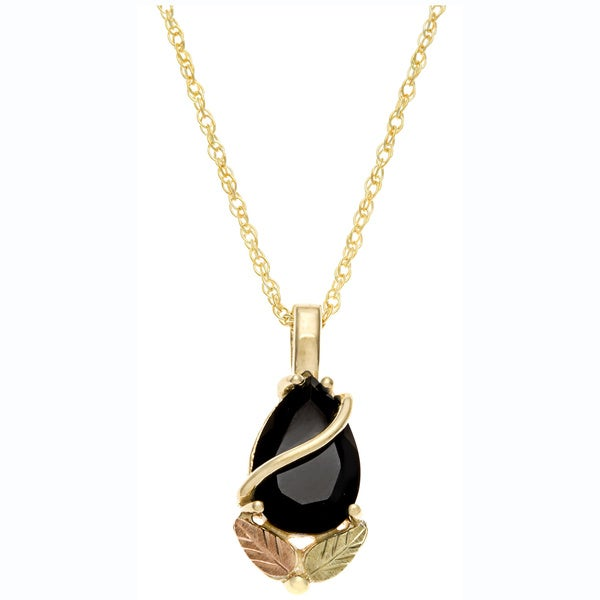 Black Hills Gold yx Teardrop Necklace Free Shipping Today Overstock