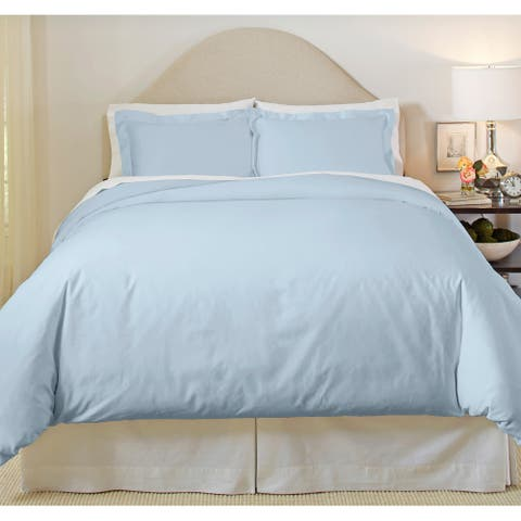 Pointehaven 500 Thread Count Cotton 3-piece Duvet Cover Set