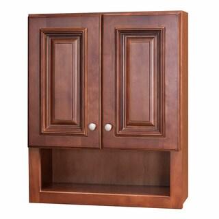 Wine Maple Bathroom Wall Cabinet
