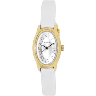 Nixon Women's 'Scarlet' White Leather Strap Watch