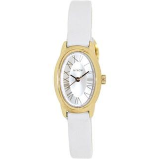 Nixon Women's 'Scarlet' White Leather Strap Watch