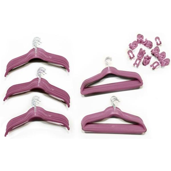 80-piece Velvet Non-slip Hanger Set